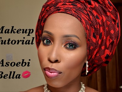 Makeup Tutorial - Asoebi Bella African gele ankara inspired for dark skin women of colour