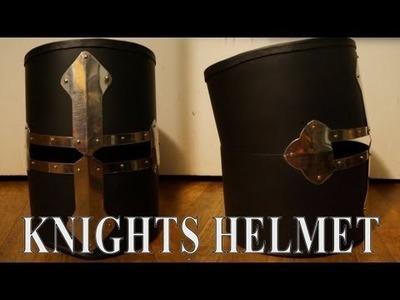 Making a knight's helmet