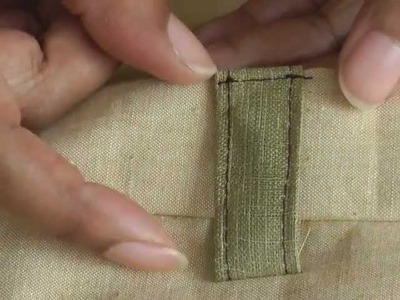 Making and Sewing Fabric Belt Loops