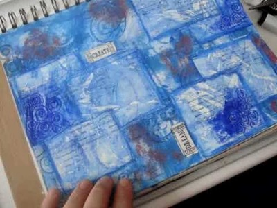 Masked Watercolor Crayon Background Continued Part 1