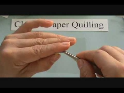 Paper quilling-How to make tight roll & loose roll.wmv