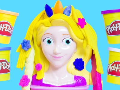 Play Doh Princess Rapunzel Hair Designs Playset Disney Tangled Fuzzy Hair Disney Princess Playdough