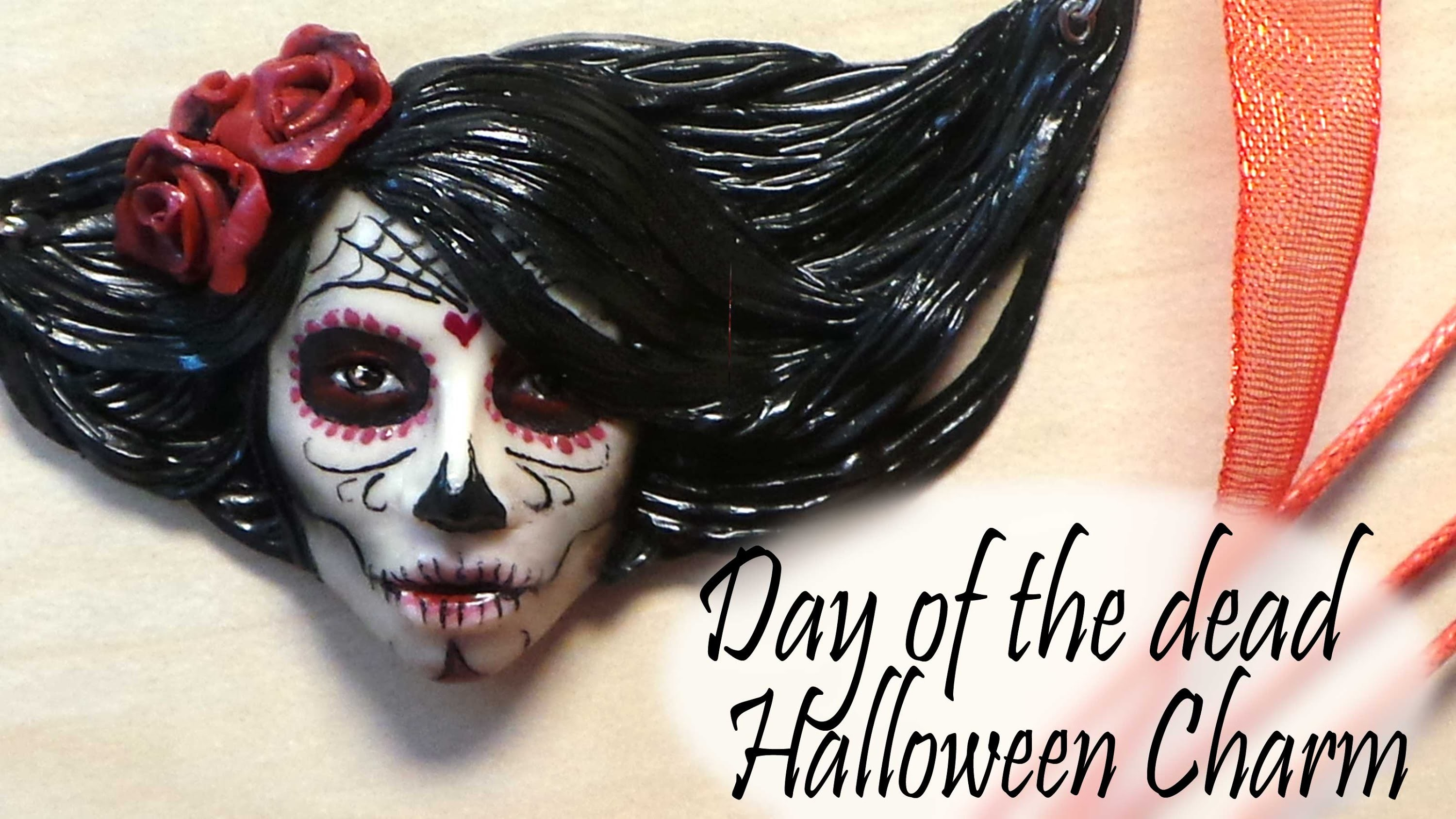 Polymer Clay *Day Of The Dead Sugar Skull* Halloween Charm Tutorial