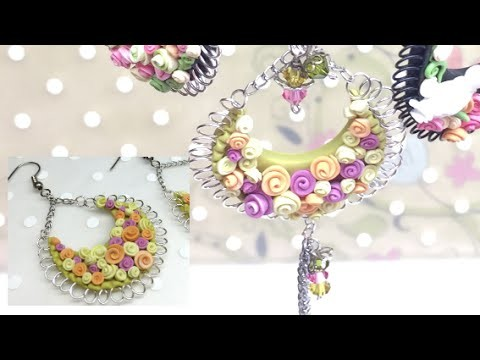 Polymer clay(Fimo) and wire (earrings or pendant) - Tutorial