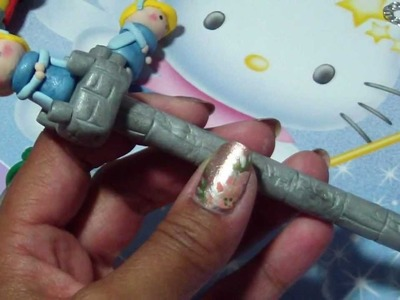 Polymer Clay Pen Tutorial: Rapunzel's Tower Pen with a Dangle!!!