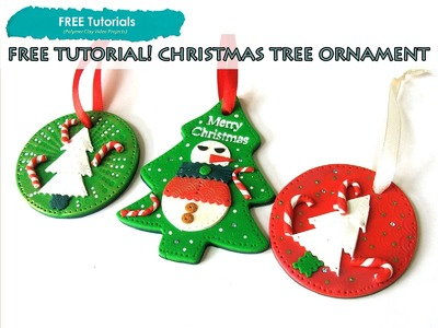 PolyPediaOnline TV - FREE How to Polymer Clay Christmas Snoman Tree Ornaments Tutorial
