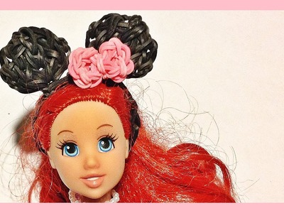 Rainbow Loom Charms: Barbie, Mickey Mouse. Minnie Mouse Barbie Doll Ears | Loom bands instructions