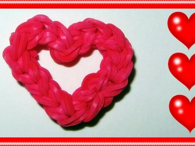 "Rainbow Loom Charms: ""Open Your Heart"""