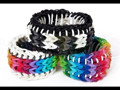 Rainbow Loom Sailors Pinstripe Tutorial - How to make a Reversible Glow Pin Bracelet