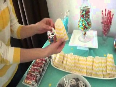 Retro Candy Theme Birthday Party