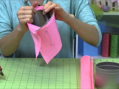 Rose Crepe Paper Basket