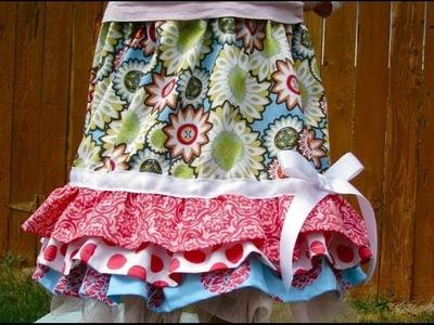 Ruffled Rhumba Skirt Tutorial - No Pattern Needed!