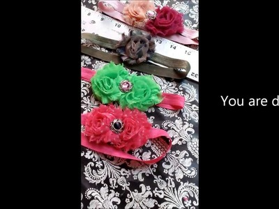 Shabby Flower Headband Tutorial
