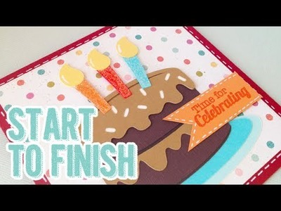 SP Episode 349: Silhouette Cameo Birthday Card Tutorial Start to Finish