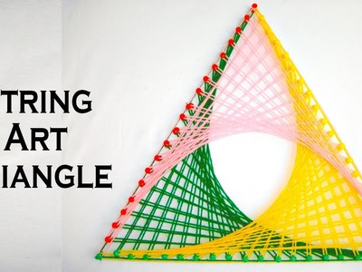 String Art Patterns - How To Make String Art Triangle Pattern - by Sonia Goyal