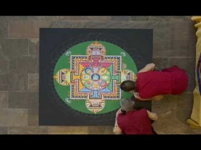 Time Lapse Making of a Mandala: The Crow Collection of Asian Art