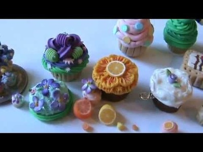 TINY POLYMER CLAY cookies, cupcakes and cakes. Cupcake Kingdom! by, Amber Dawn- Not RE-MENT