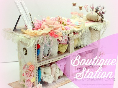 Tutorial - Shabby Chic Storage unit from Waste Boxes