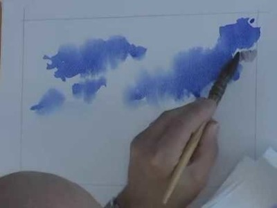 Watercolor Clouds - How to Paint a Breezy Sky