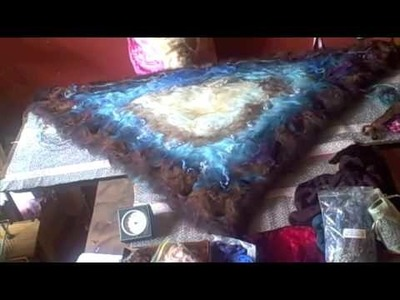 Wet felting time lapsed project.