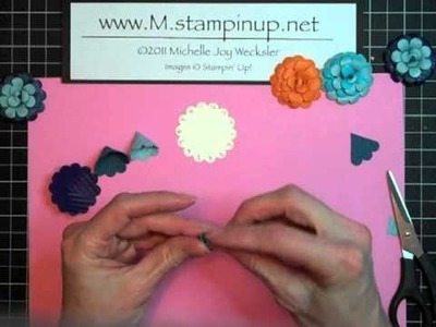 3-D Scallop Circle Punch Paper Flowers