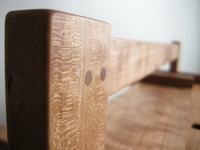 A Cabinetmaker's Toolchest part twelve: Pinning the joints, saw holders and shooting board details