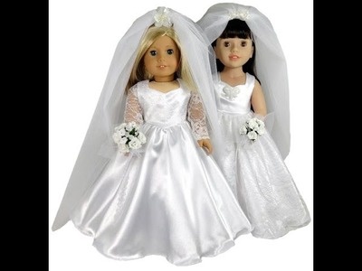 American Girl Doll Clothes Patterns Wedding Dress