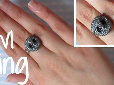 Antique Owl Ring Tutorial: Polymer Clay Ring.