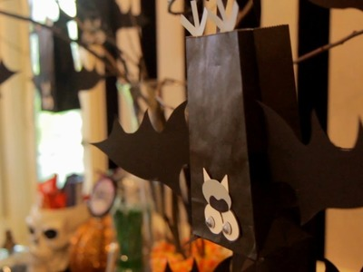 Bat Halloween Treat Bags (How to) - Halloween with ModernMom