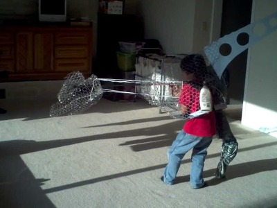 Best Homemade Dinosaur Ever Part 2 Halloween Costume Dilophosaurus T-Rex 2012 How to make