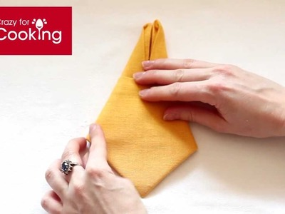 Bunny napkin folding | CrazyForCooking.com