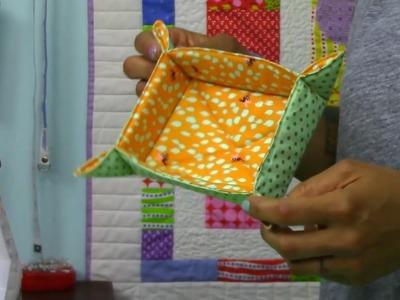 Catch-All Fabric Basket Tutorial- DIY