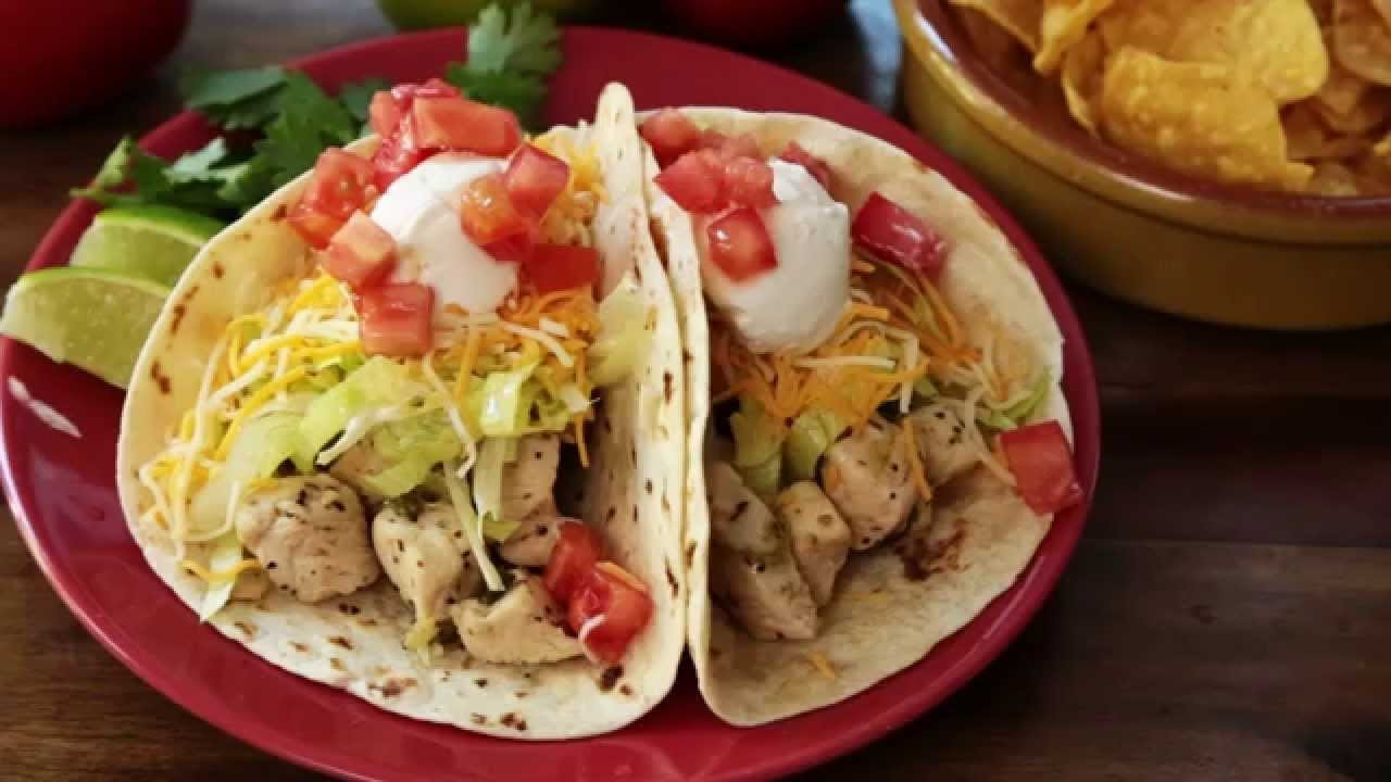 Chicken Recipes - How to Make Chicken Soft Tacos