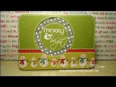 Christmas 2010 - Card No.1 Merry & Bright