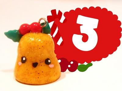 ❤ Christmas bell! Kawaii Christmas 3 -Polymer Clay tutorial