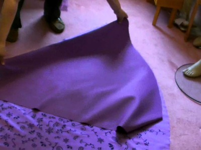 Disney Rapunzel Costume tutorial Part 4 Skirt