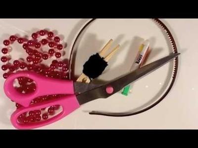 DIY: Bead Wrapped Headband & Bracelet ♡ Theeasydiy #FashionDIY