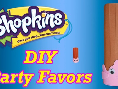 DIY How to Make Shopkins Birthday Party Favors Cheery Churro Cake Topper Decoration