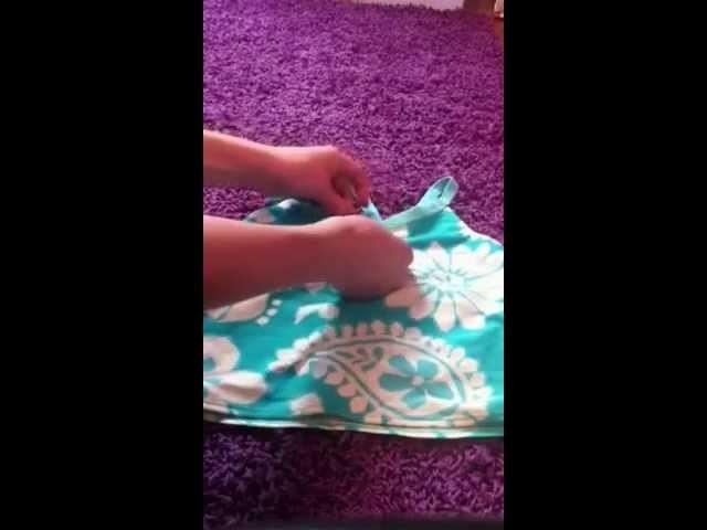 DIY How to turn a tankini to a bikini
