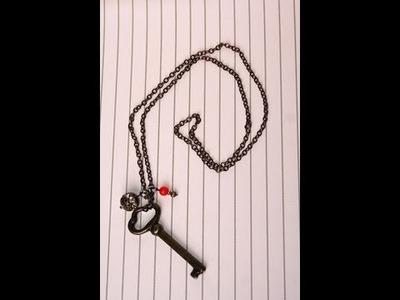 DIY: Skeleton Key Necklace   Show Me Cute