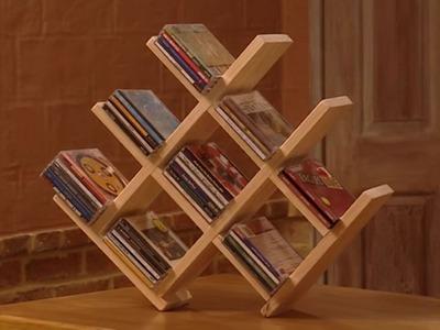DIY Wooden CD Rack