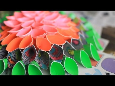 Duck Tape Crafts with LaurDIY: How to Make a Duck Tape Flower Wreath