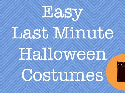 Easy Last Minute Halloween Costumes For Girls (Under 1 Hour !)
