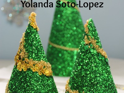Easy to make  #Glitter #Christmas Tree Decorations