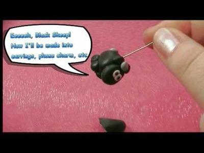 Fimo Polymer Clay Demo: Cute Black Sheep