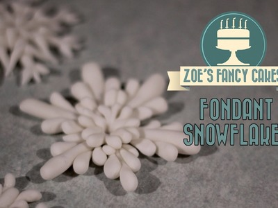 Fondant snowflake cake topper modelling paste how to cake decorating tutorial