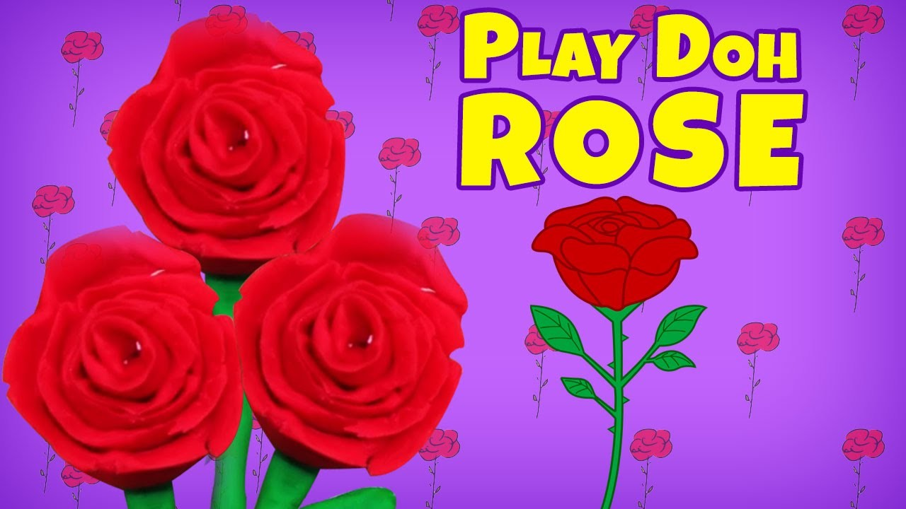 Fun with Play Doh | Learn How to make Play Dough Rose | Easy DIY Play Doh Video