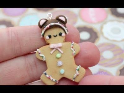 ☃ Gingerbread Man Polymer Clay Tutorial! ☃