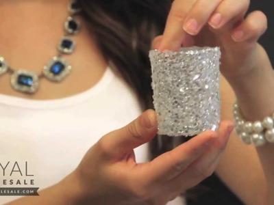 Glitter Votive Candleholders for Wedding Centerpieces