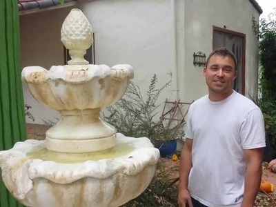 Haunted Halloween Fountain: Hand Carved 3-Tiered Foam Water Fountain Prop: Part Two